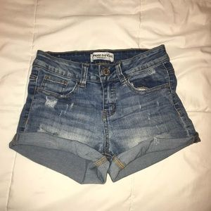 Almost Famous Distressed Denim Shorts